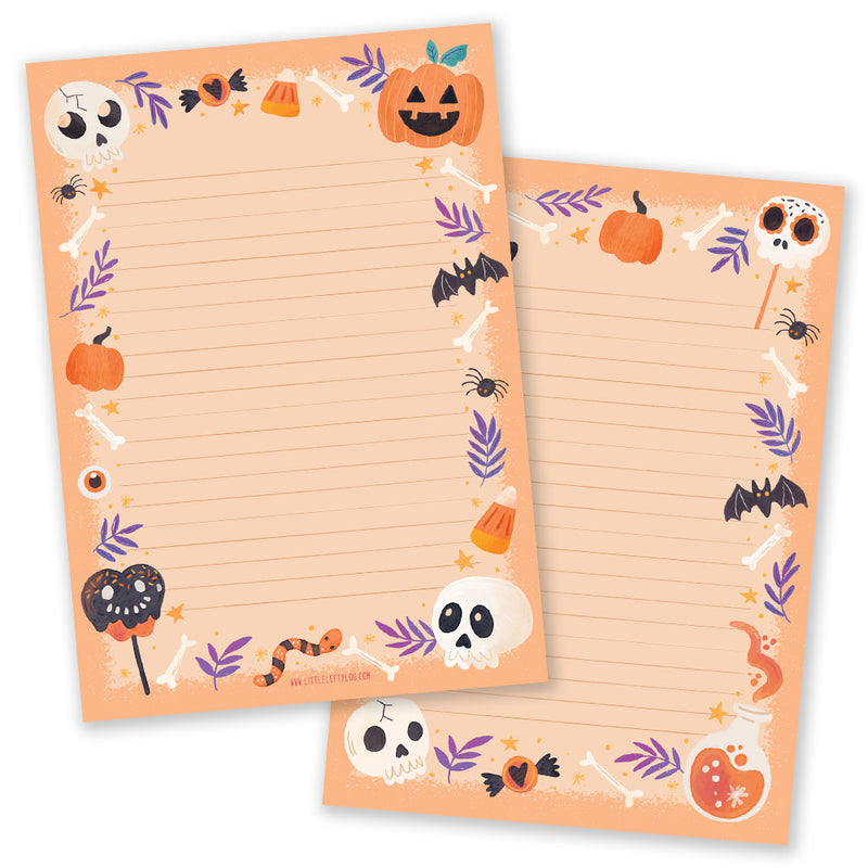 A5 Halloween Orange Notepad - Double Sided