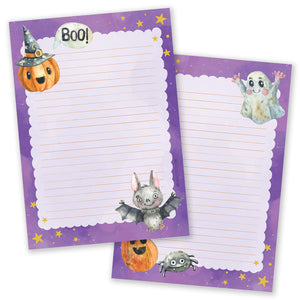 A5 Halloween Purple Notepad - Double Sided
