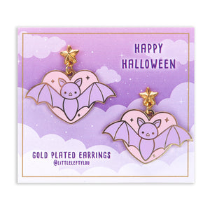 Halloween Bat Earrings - Little Lefty Lou