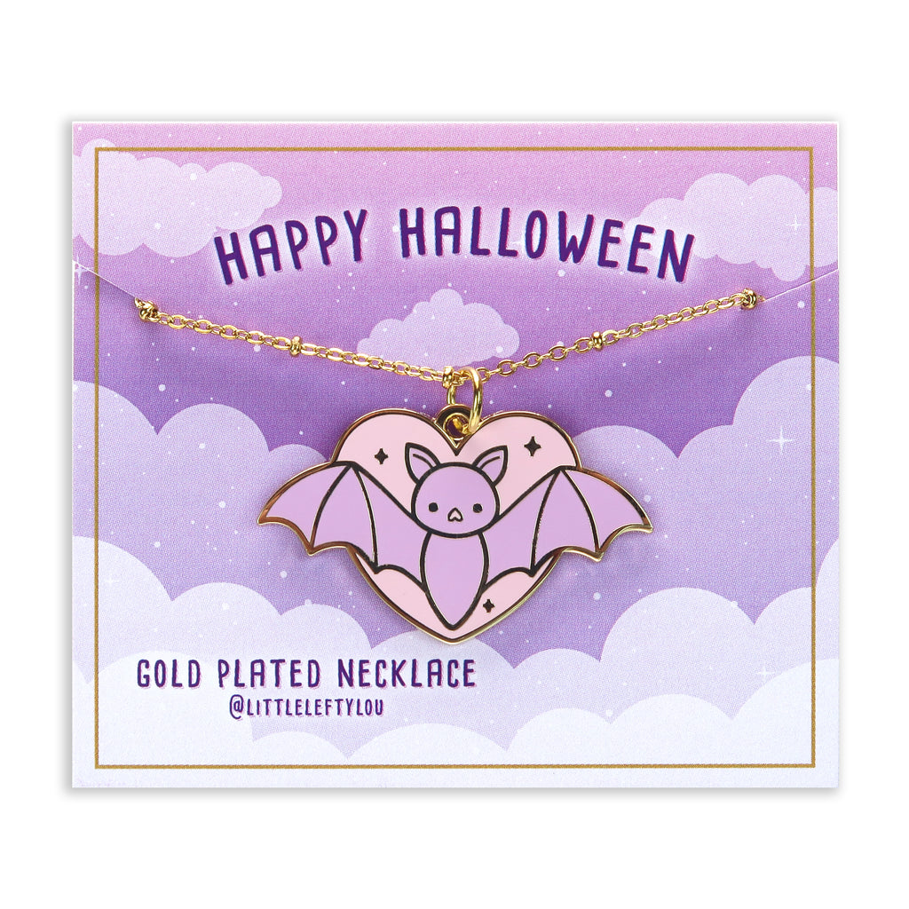 Halloween Bat Necklace - Little Lefty Lou