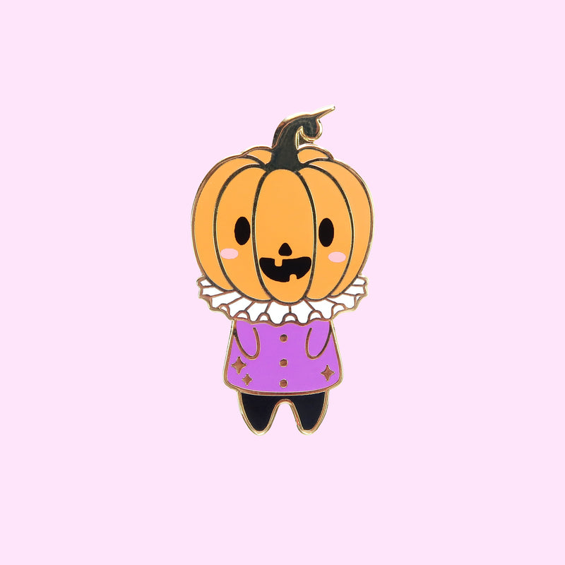 Halloween Pumpkin Head Pin - Little Lefty Lou