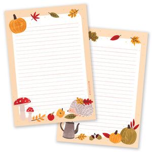 A5 Hello Autumn Notepad - Double Sided