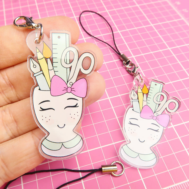 Stationery Cup Acrylic Charm