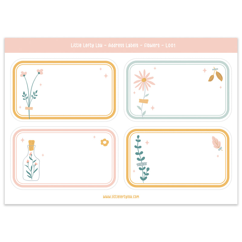Flower Address Labels (L001)