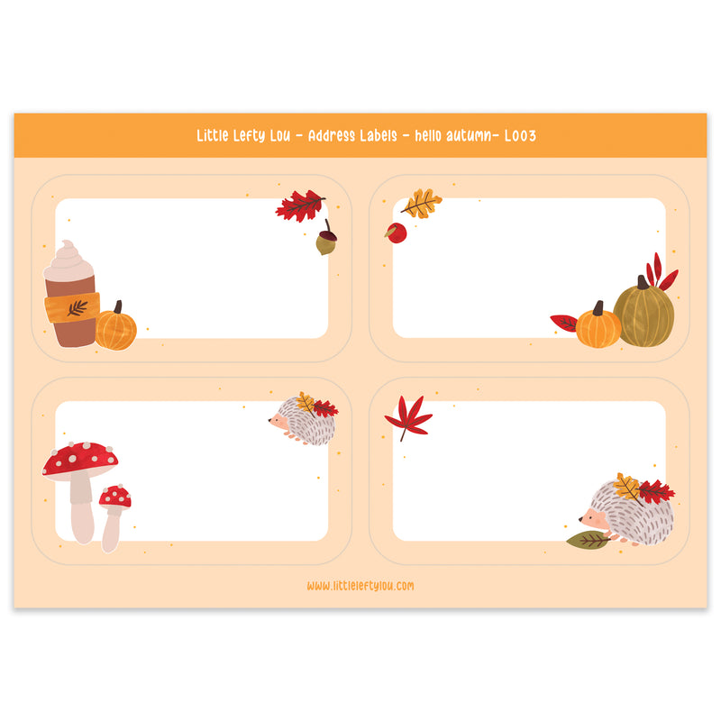 Hello Autumn Address Labels (L003)