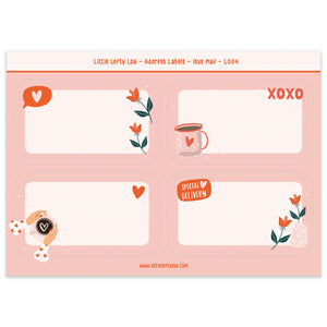 Love Mail Address Labels (L004)