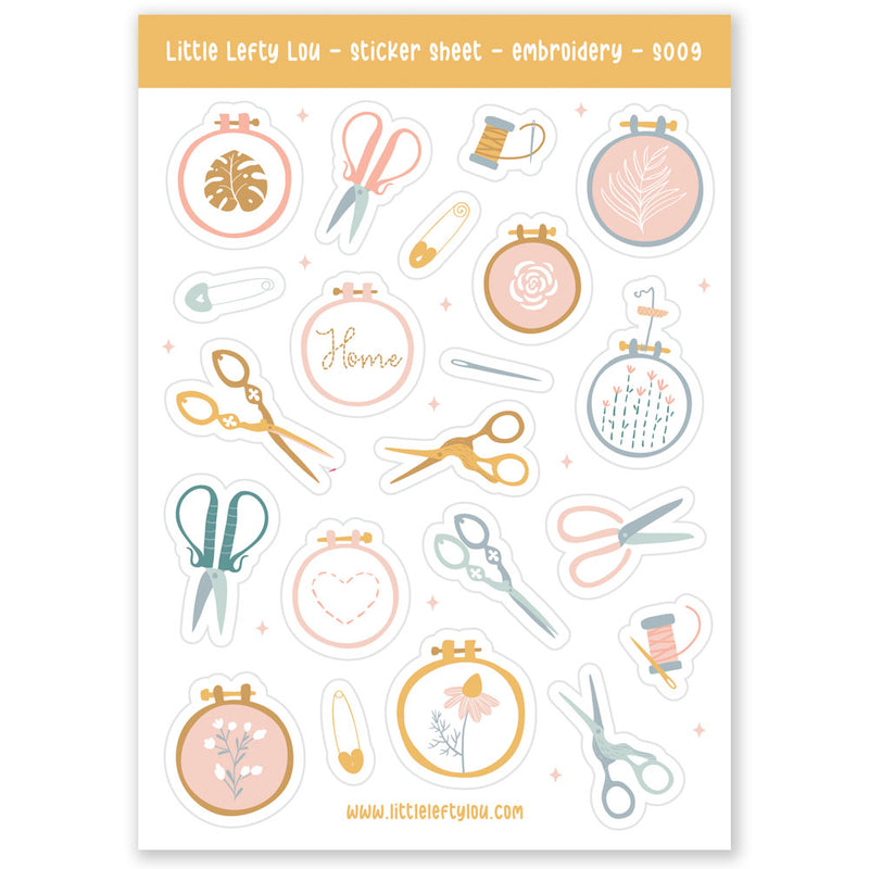 Embroidery Stickers (S009)