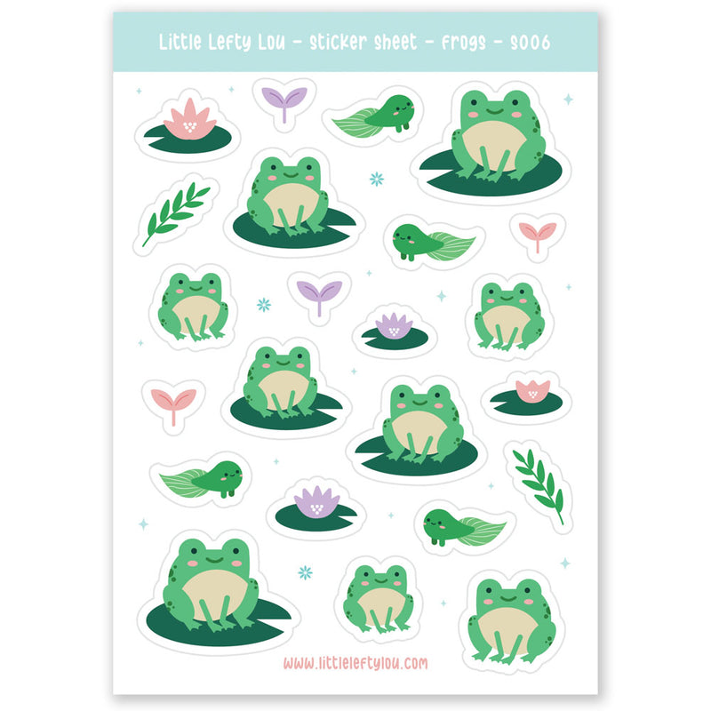 Frog Stickers (S006)