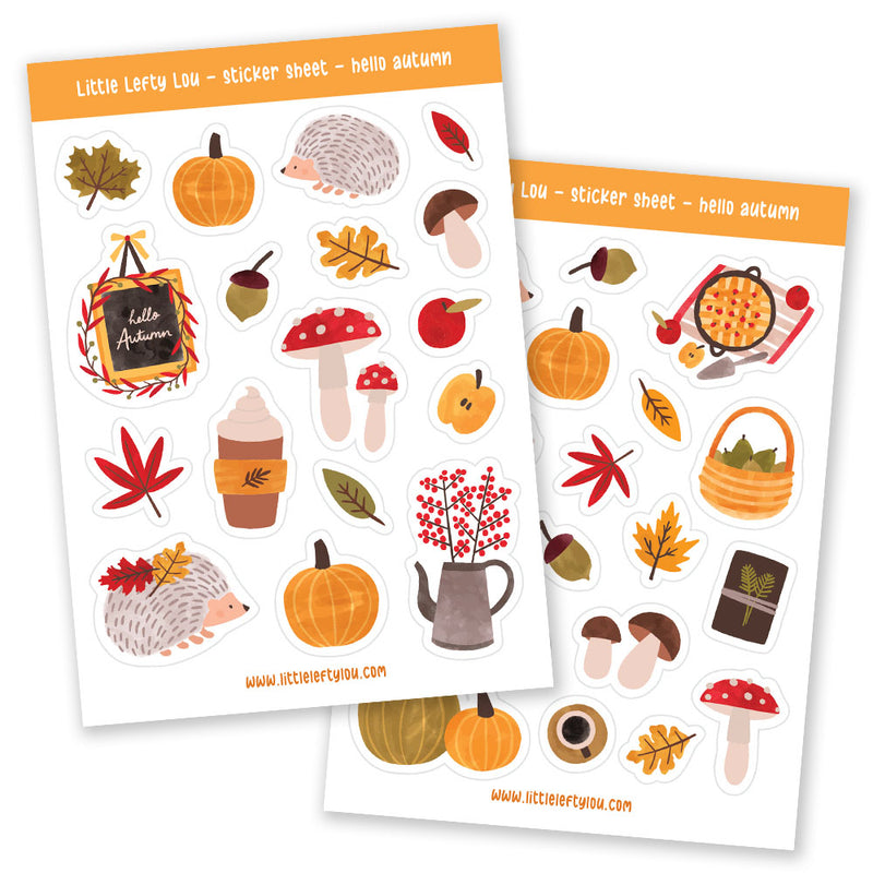 Hello Autumn Stickers (S002)