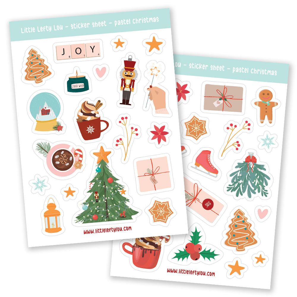 Pastel Christmas Stickers