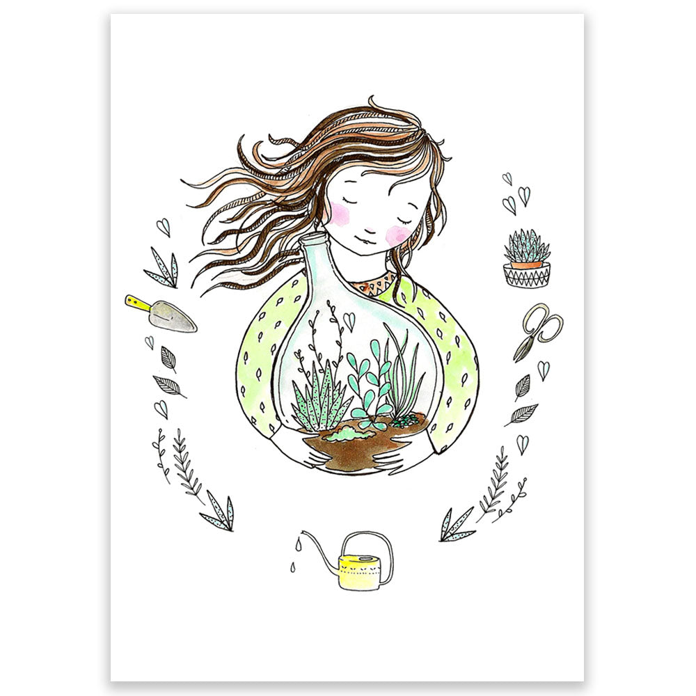 Terrarium Postcard - Little Lefty Lou