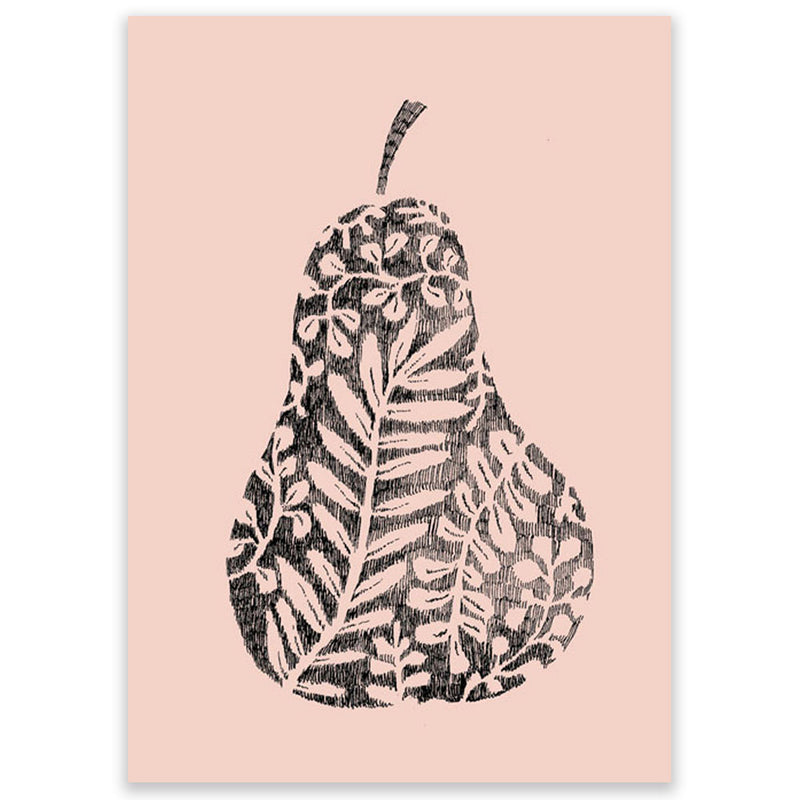 Marieke Ten Berge Design Postcard Pear with Leaves