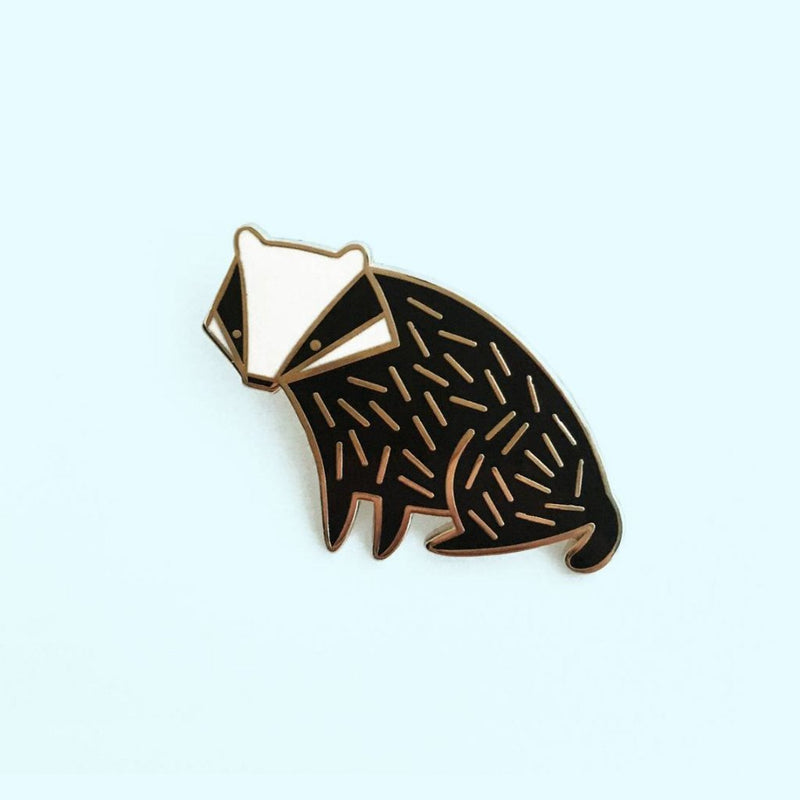 Mila Made Hard Enamel Lapel Pin Badger Harry Potter Hufflepuff