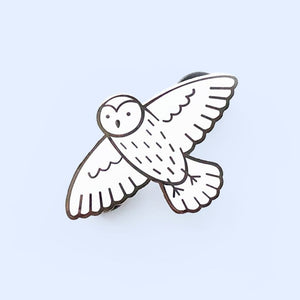 Snow Owl Pin - Little Lefty Lou