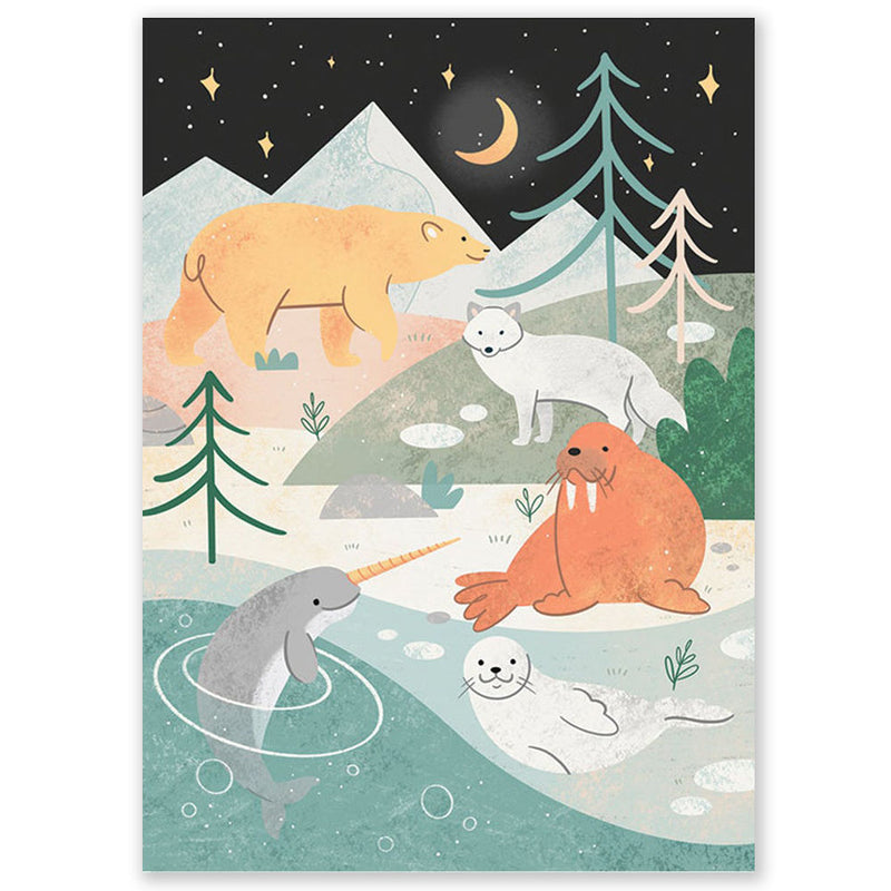 Arctic Animals Postcard