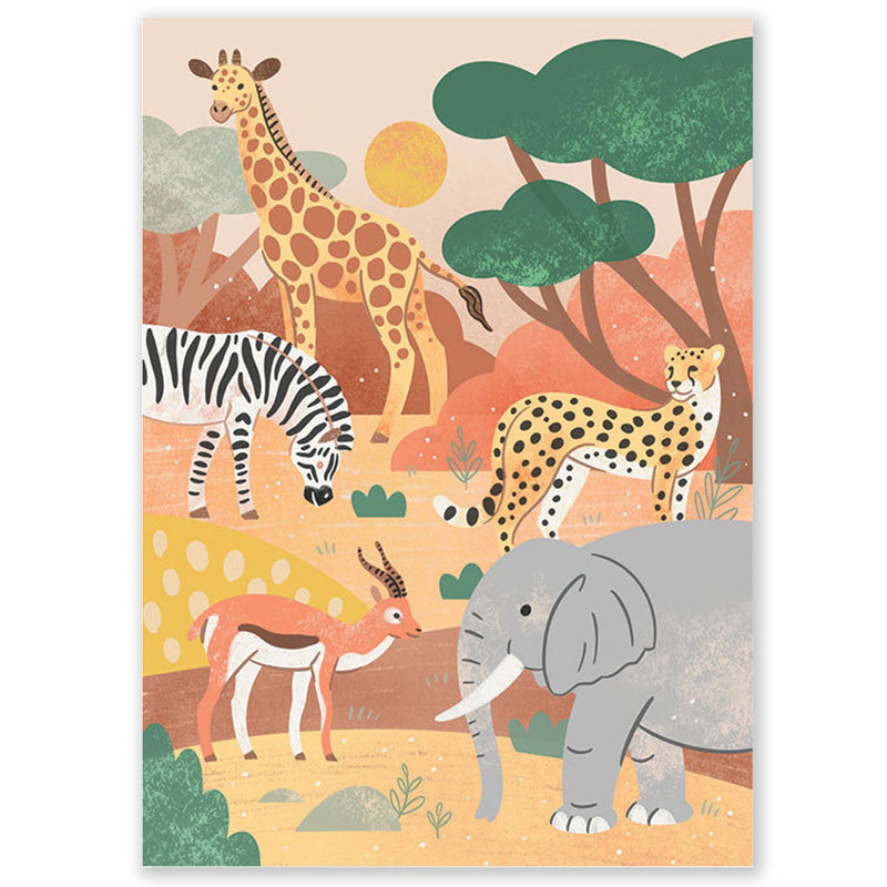 Safari Animals Postcard