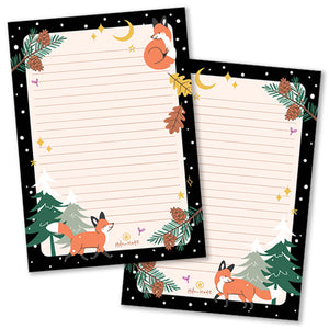 A5 Fox in Winter Notepad - Double Sided