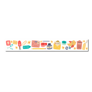 Mail Washi Tape - White