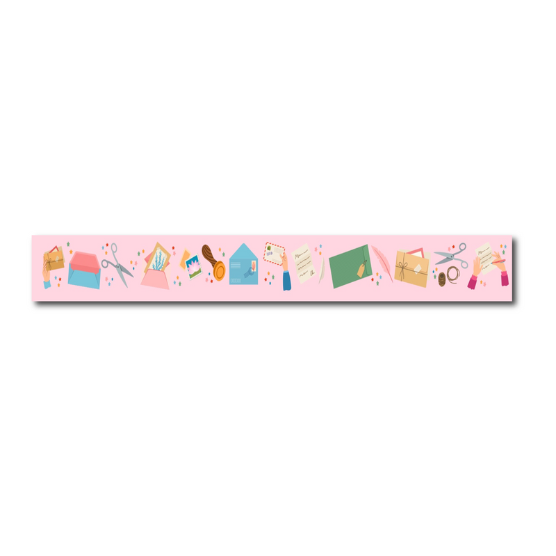 Pink Stationery Washi Tape