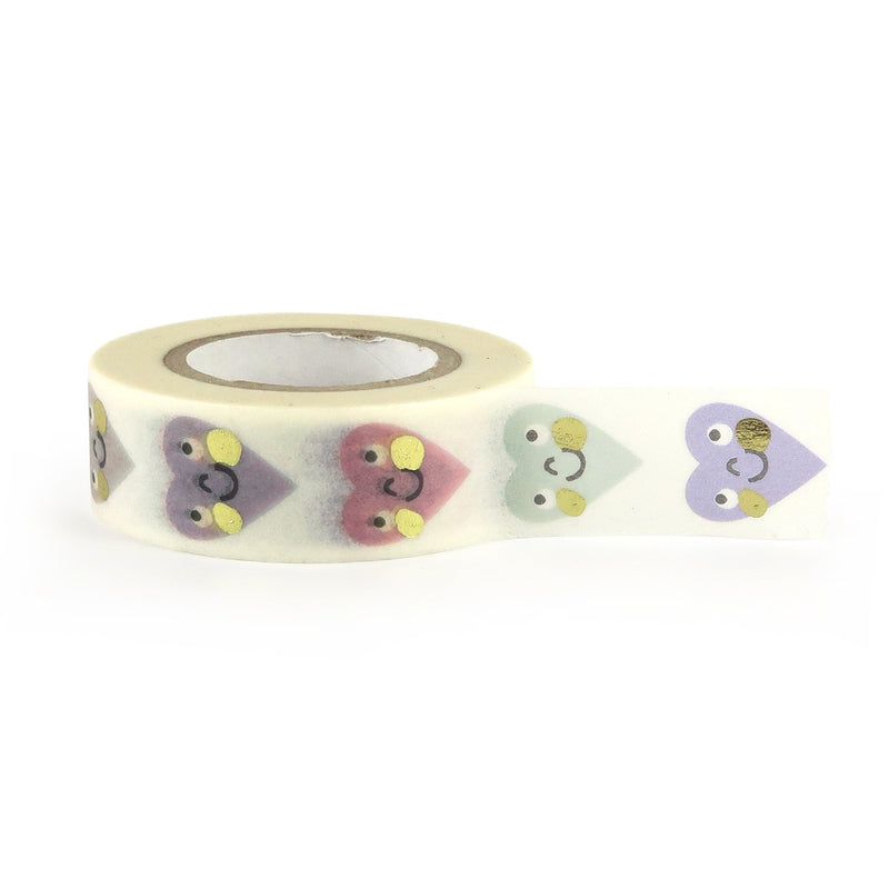 Smiley Hearts Washi Tape - Little Lefty Lou