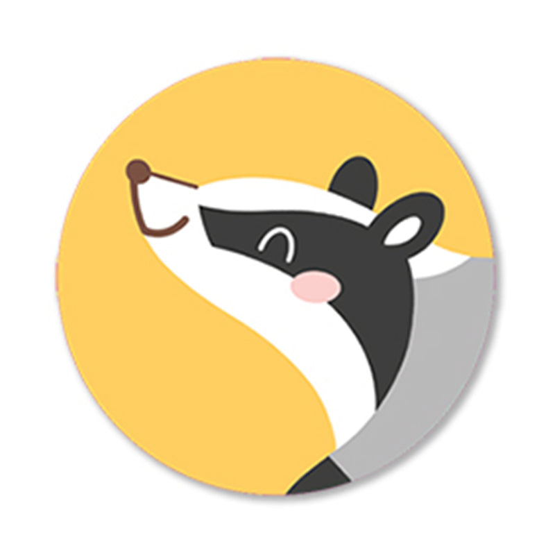 5 x Badger Sticker
