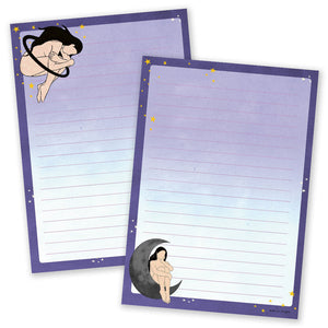A5 Space Girl Notepad - Double Sided