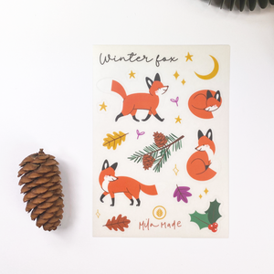 A6 Fox In Winter Sticker Sheet