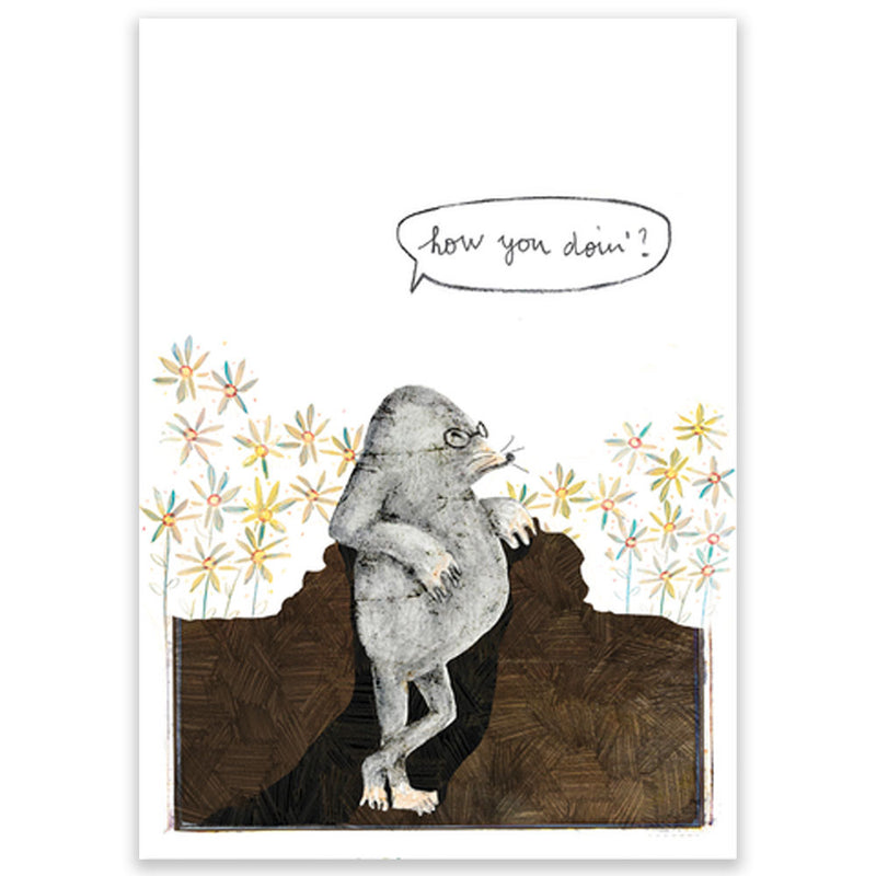 Mole How You Doin'? Postcard - Little Lefty Lou