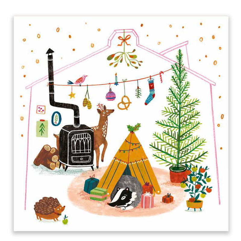 Cosy Christmas Home Postcard