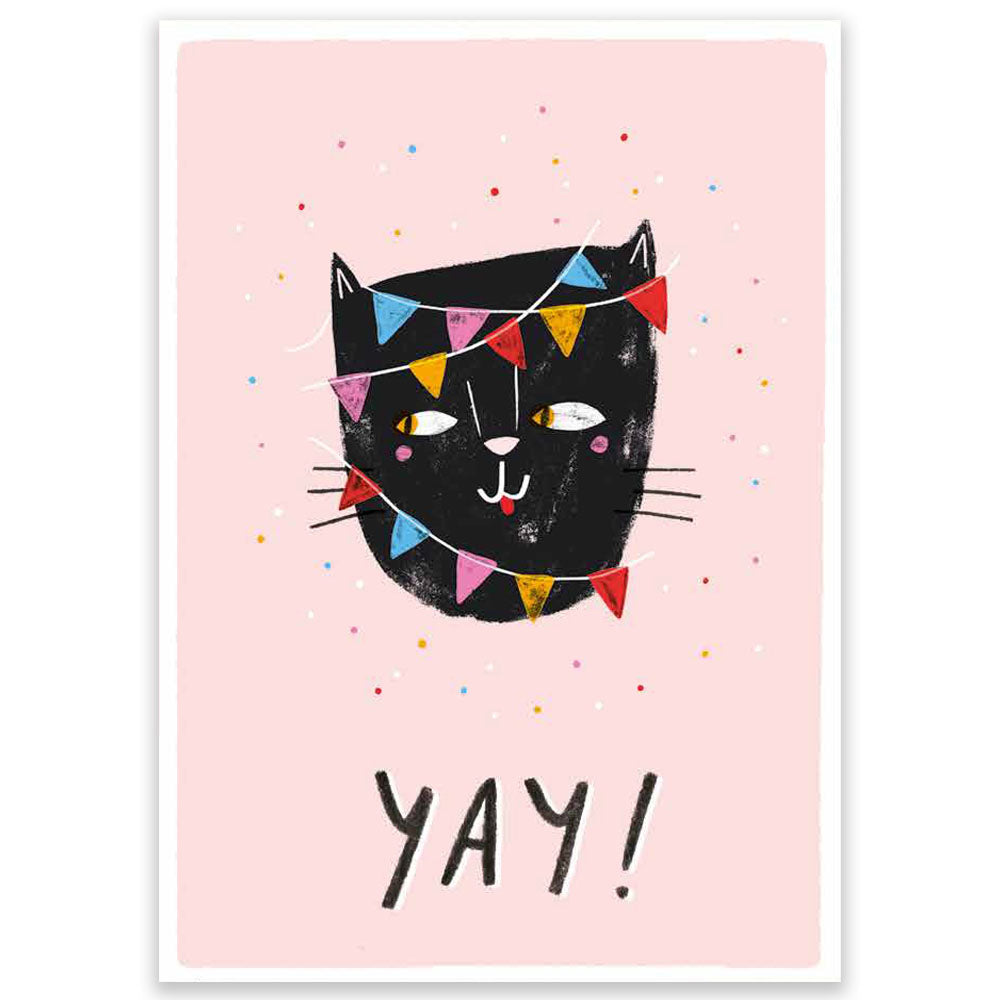 Yay! Cat Large Postcard
