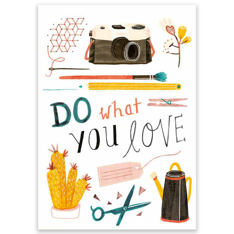 Do What You Love Large Postcard