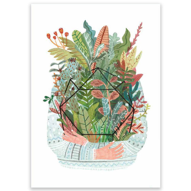 Plant Hug Large Postcard - Little Lefty Lou