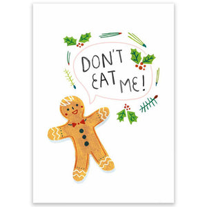 Don't Eat Me Christmas Postcard - Little Lefty Lou