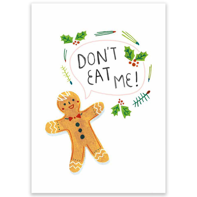 Don't Eat Me Christmas Postcard