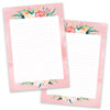 PRE-ORDER - A5 Pink Flower Notepad - Double Sided - Little Lefty Lou