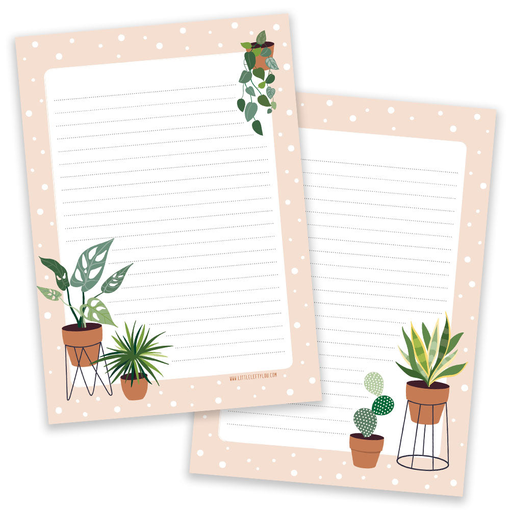 PRE-ORDER - A5 Plants Notepad - Double Sided - Little Lefty Lou
