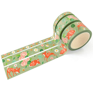 Deer in Spring Washi Tape Set