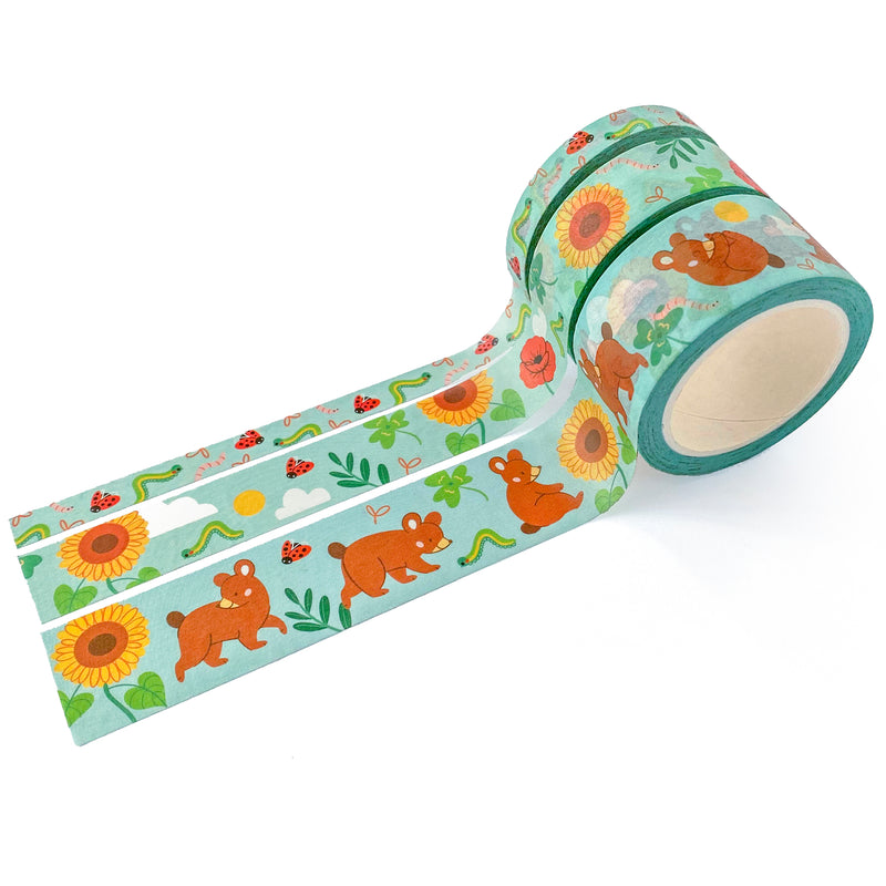 Bear in Summer Washi Tape Set