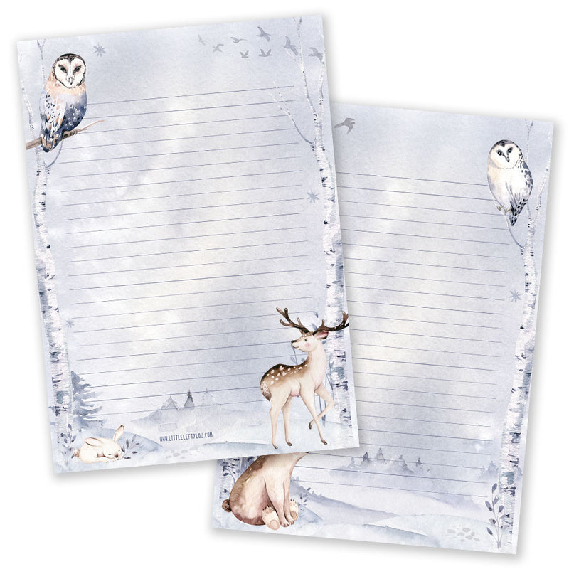 A5 Winter Notepad - Double Sided