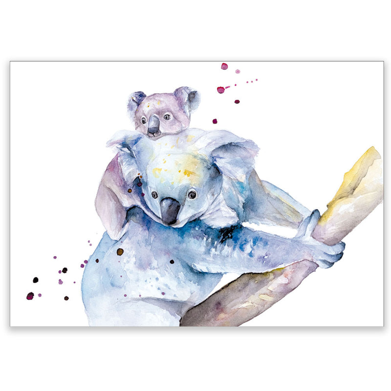 Watercolor Baby Koala Postcard - Little Lefty Lou