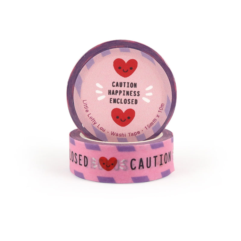 Caution Happiness Inside Washi Tape - Little Lefty Lou