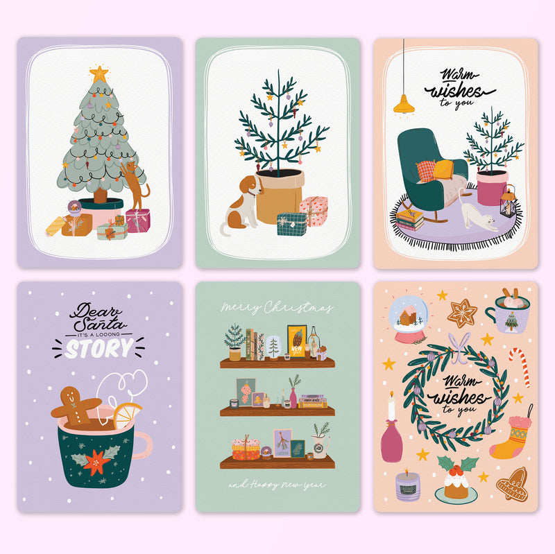 Christmas Postcard Set (with or without envelopes)