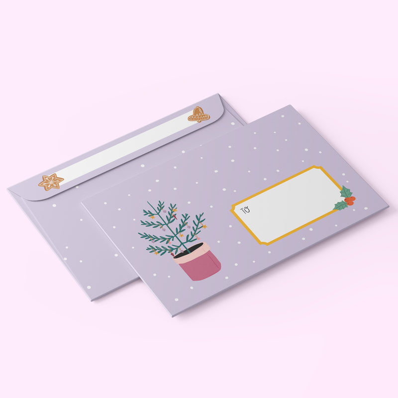 10 x C6 Envelopes Christmas