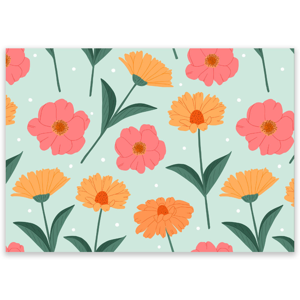 Flowers Mint Postcard
