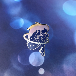 Space Girl Pin