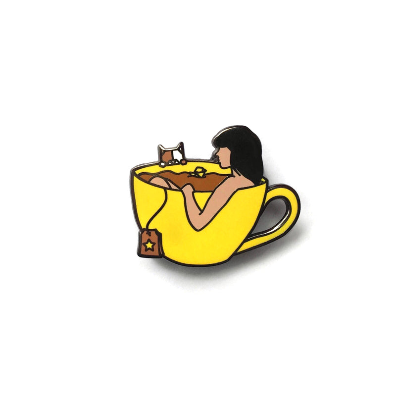 Tea-riffic Pin Yellow