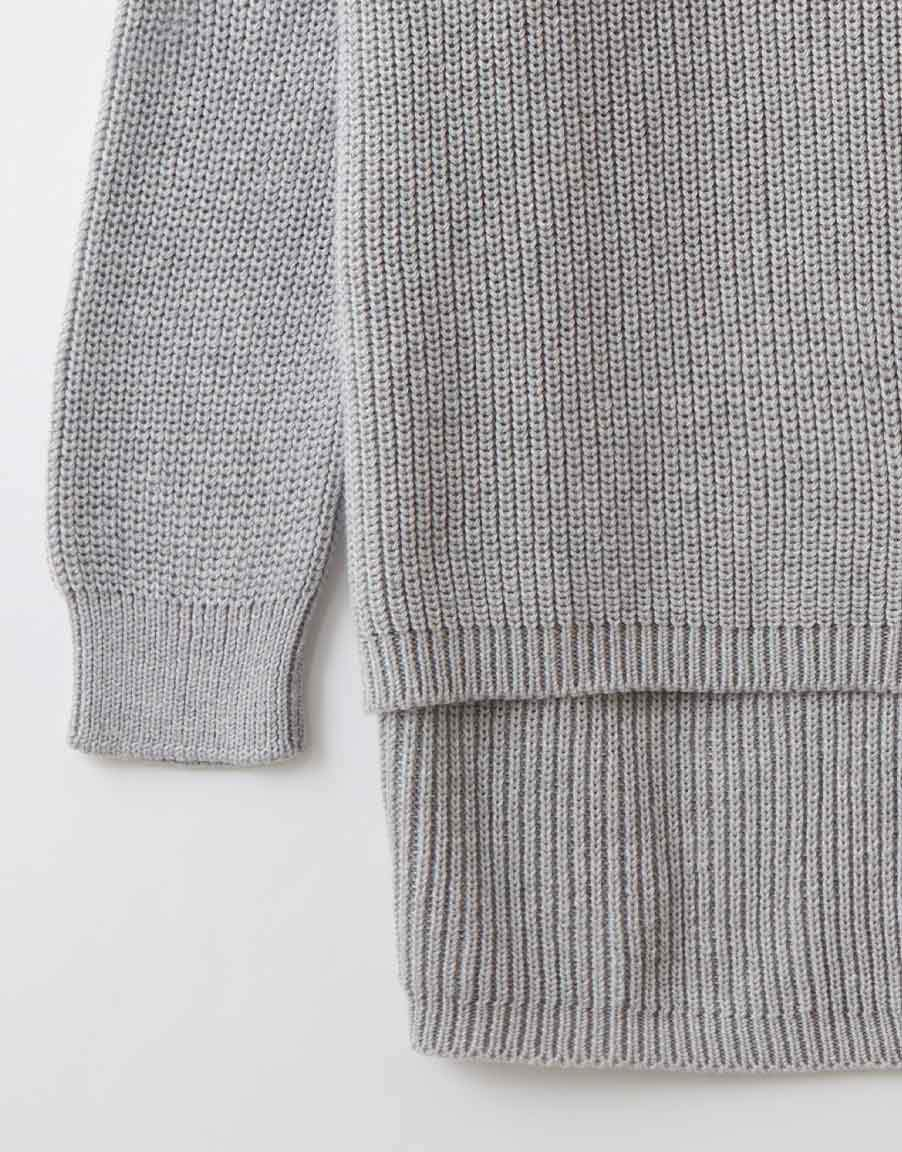 MINA | Strickpullover | light grey