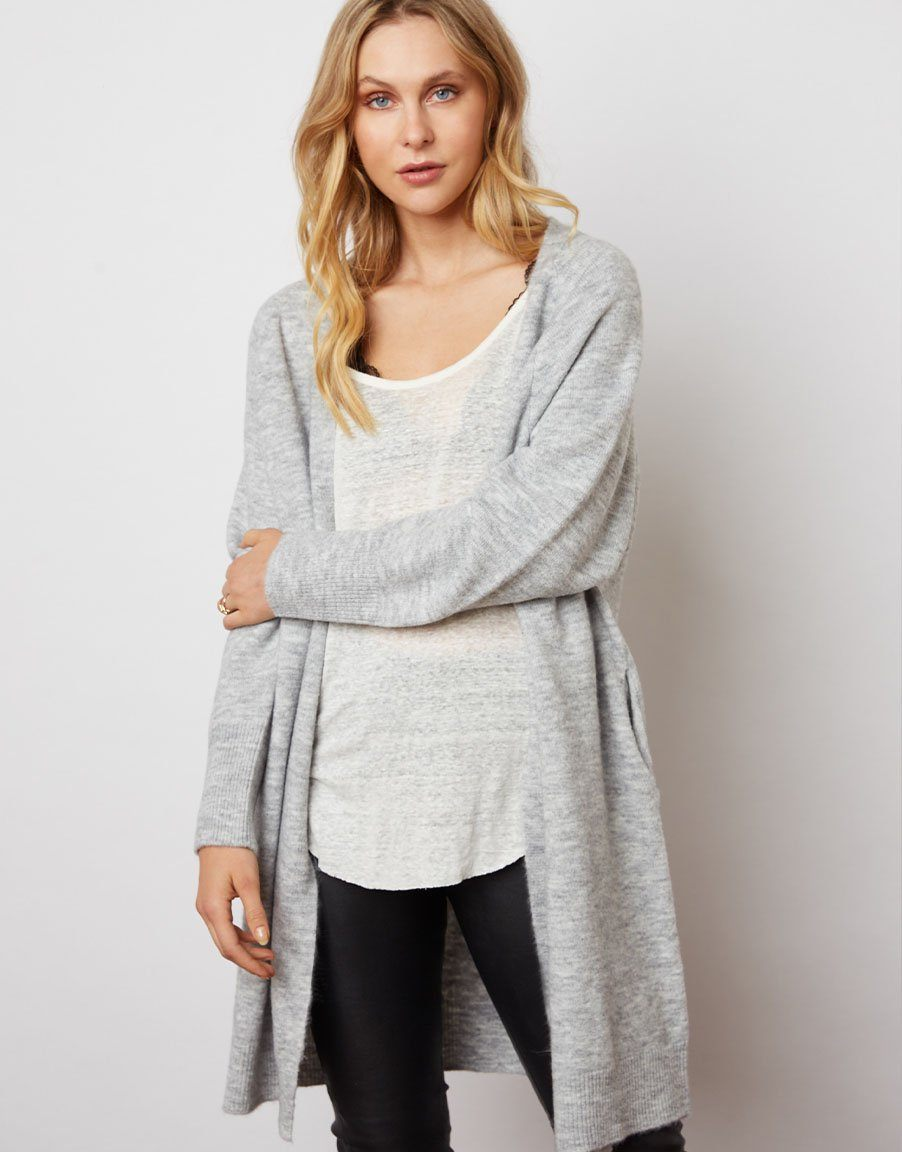 NANDINI | Cardigan | light grey