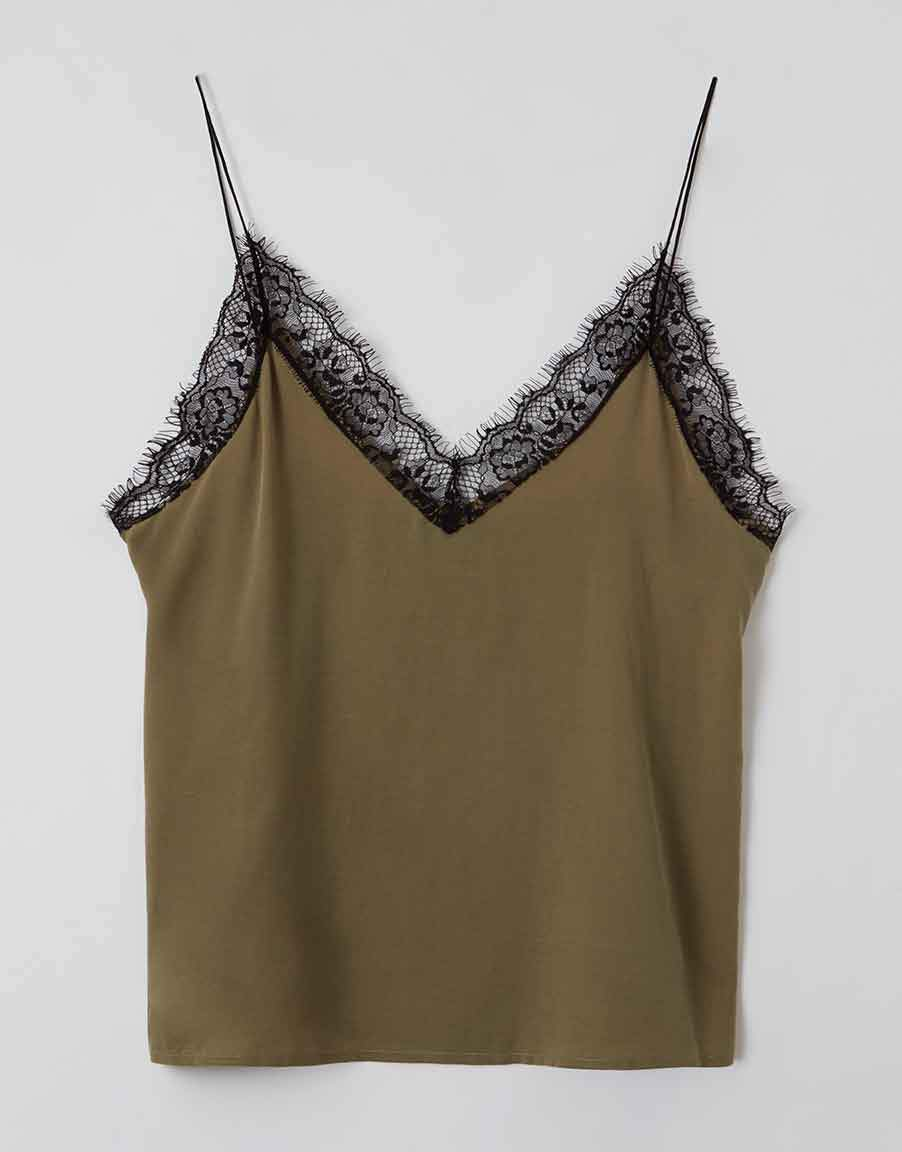 NAVITA | Lingerie Top | covert green