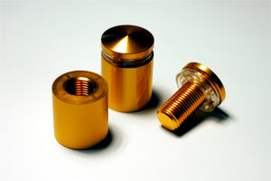 "Standoff / Aluminum: Set of 4 - 3/4"" x 3/4"" Gold Anodized"